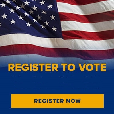 Message urging people to register to vote