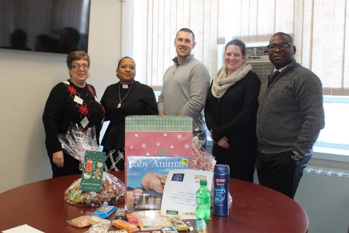 Goshen Secure staff with presents