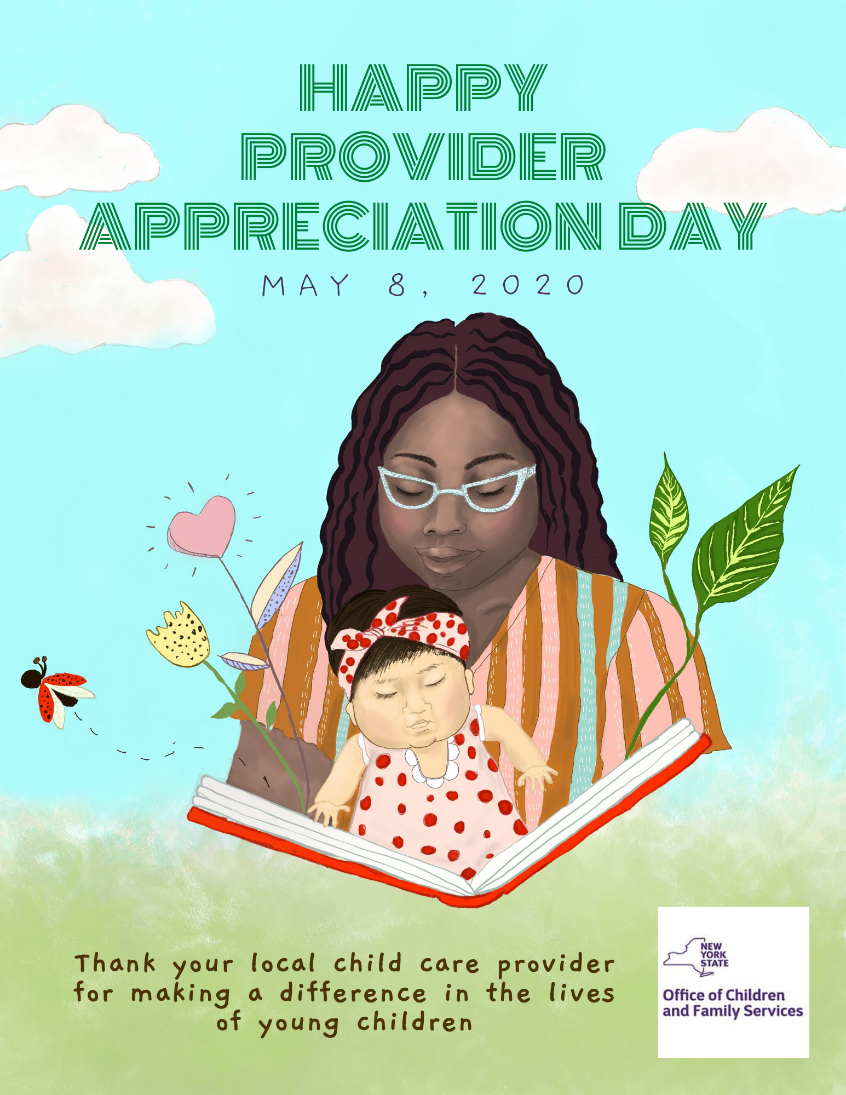 Happy Provider Appreciation Day, May 8, 2020: Thank you local child care provider for making a difference in the lives of young children